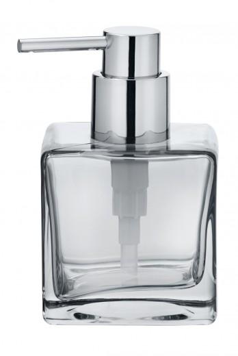 Dozator pentru sapun, din sticla, Lavit Transparent, L8xl8xH8,5 cm