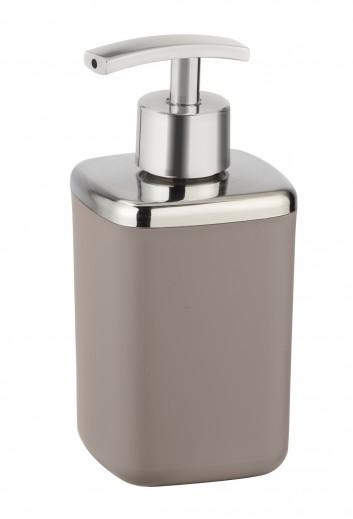 Dozator pentru sapun, din termoplastic, Barcelona Taupe, L7xl7xH16 cm