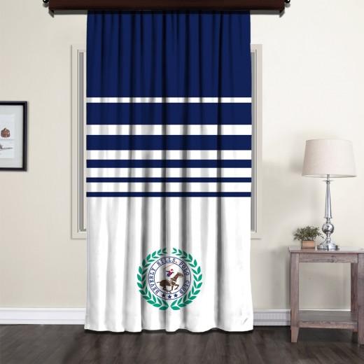 Draperie Beverly Hills Polo Club Crt 10-1 Bleumarin / Alb, 140 x 260 cm