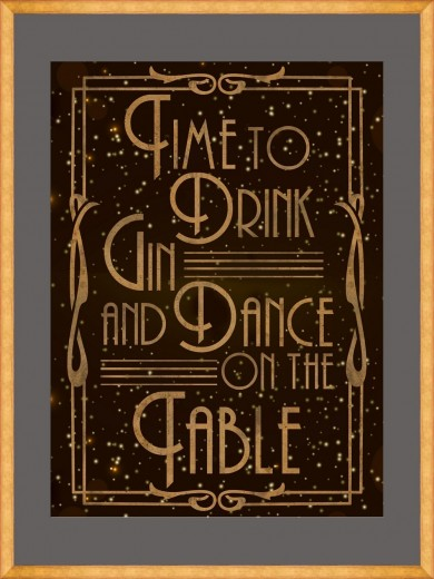 Tablou Framed Art Drink Gin