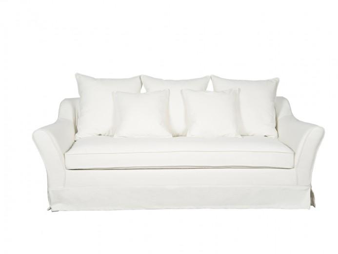 Canapea fixa 3 locuri Emma White