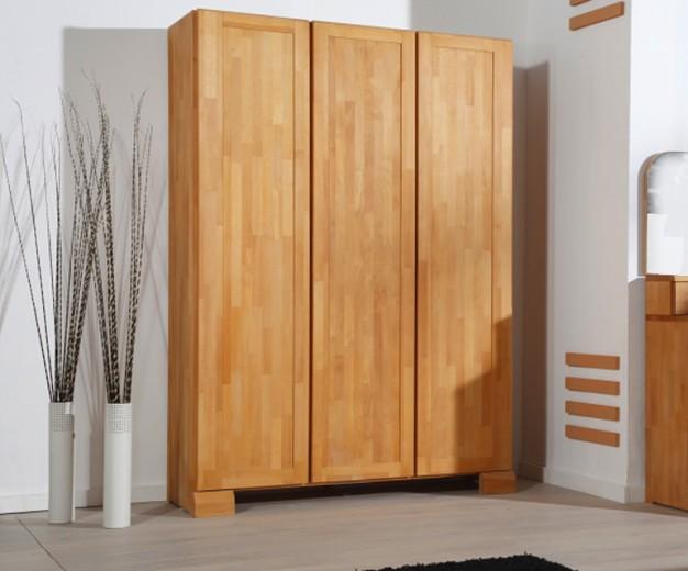 Dulap din lemn masiv de fag Seti 650 3D natural, l135xA65xH190 cm