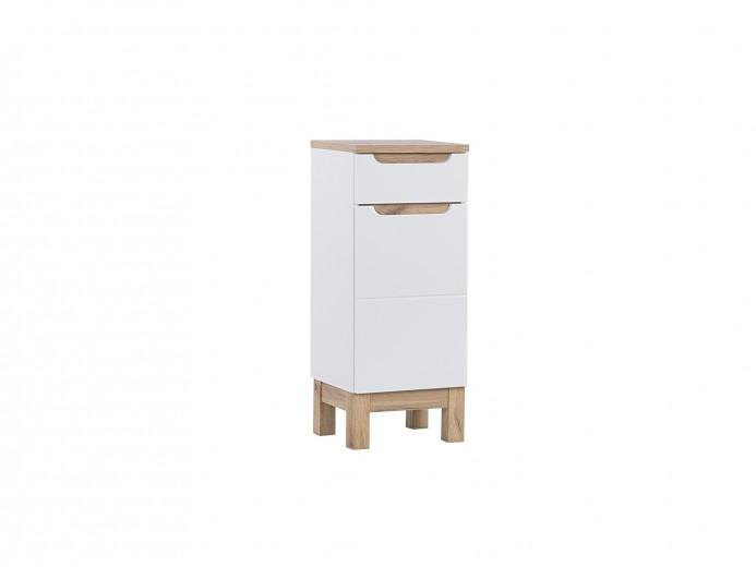 Dulap baie cu 1 usa si 1 sertar, Bali White, l35xA33xH86 cm
