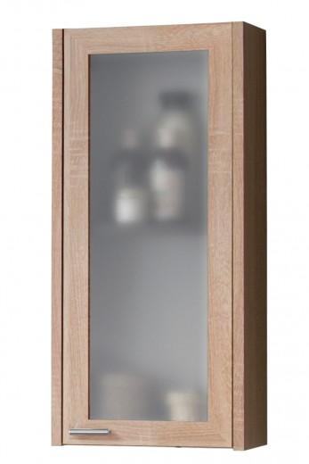 Dulap baie suspendat cu 1 usa si vitrina, Piano, l30xA19xH69 cm