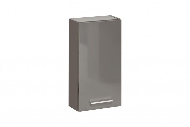 Dulap baie suspendat cu 1 usa, Twist Grey, l30xA15xH55 cm