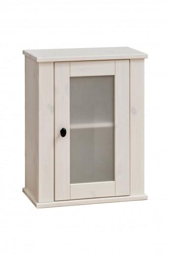 Dulap baie suspendat cu vitrina, 1 usa, Fresh, l46xA25xH57 cm
