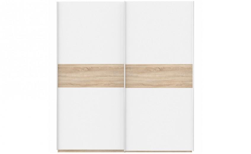 Dulap din pal cu 2 usi glisante Winer Stejar Sonoma / Alb, l170,3xA61,2xH190,5 cm