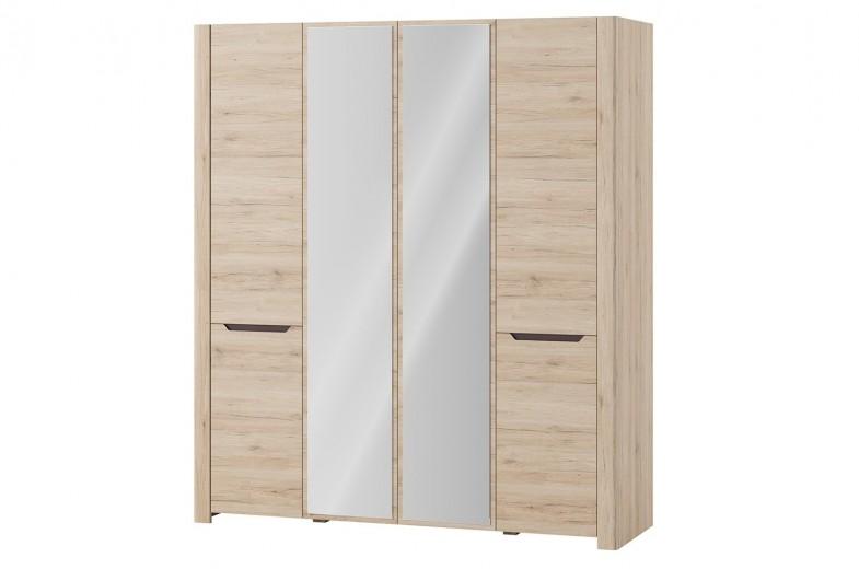 Dulap cu 4 usi si oglinda Desjo 07, l181xA58xH207 cm
