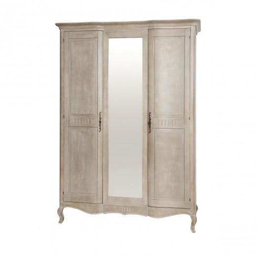 Dulap cu oglinda din lemn de mesteacan, Venezia VE886K, l161xA63xH220 cm