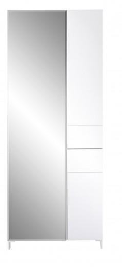 Dulap hol din MDF, cu oglinda si 3 usi Kalis Alb, l80xA39xH200 cm