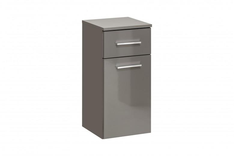 Dulap baie cu 1 usa si 1 sertar, Twist Grey, l30xA30xH62 cm