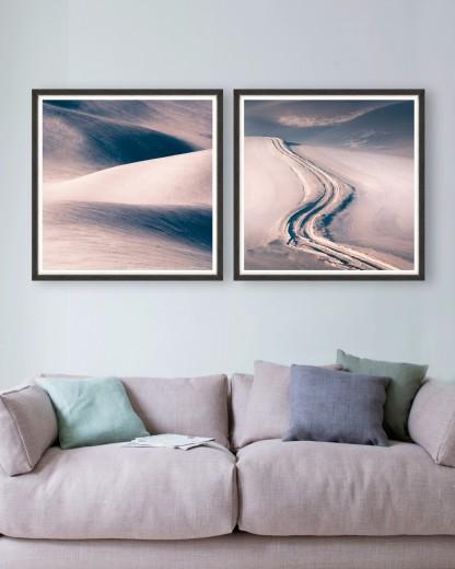 Tablou 2 piese Framed Art Dunes