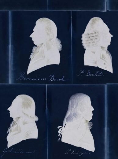 Set 3 role Tapet Imprimat Digital Dutch Portraits Blue