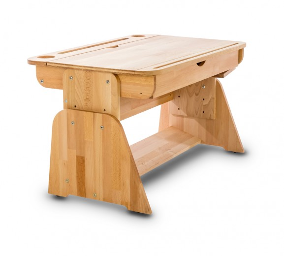 Masa de birou din lemn de fag, Ecodesk II, L70xl55h46 cm