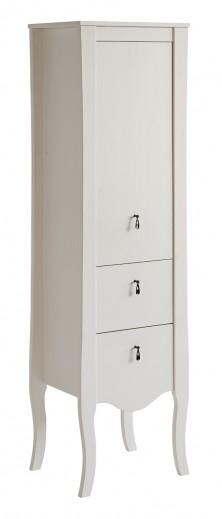 Dulap baie inalt, 1 usa si 2 sertare, Elisabeth, l45xA35xH155 cm