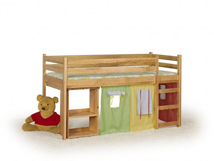 Pat din lemn de pin pentru copii Emi, 190 x 80 cm