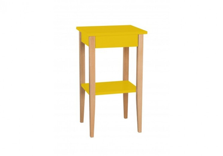 Noptiera din MDF Entlik Yellow, l40xA35xH70 cm