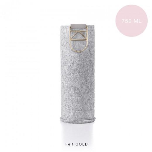 Extra Cover Felt Gold pentru sticle Equa Mismatch, 750 ml