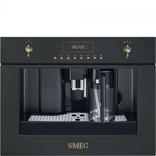Espressor incorporabil automat CMS8451A, Antracit, 60x45 cm, Coloniale, SMEG