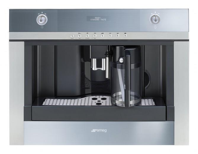 Espressor incorporabil automat CMSC451, Sticla Stopsol Silver, 60x45 cm, Linea, SMEG