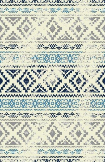Covor Ethnic Et 06 B Blue, Tesut mecanic