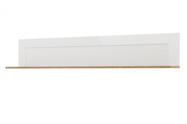 Etajera suspendata din pal Belfort 35 Alb, l150xA20xH27 cm
