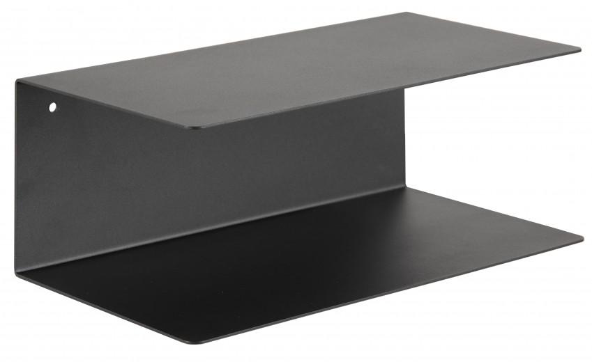 Etajera suspendata din metal Joliet Negru, l35xA20xH14 cm