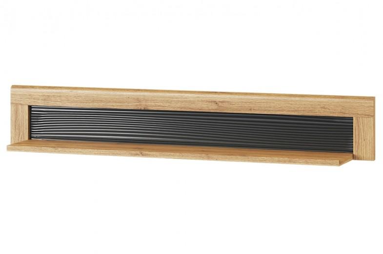 Etajera din pal Large Kama 35 Stejar / Negru, l144xA23xH23 cm