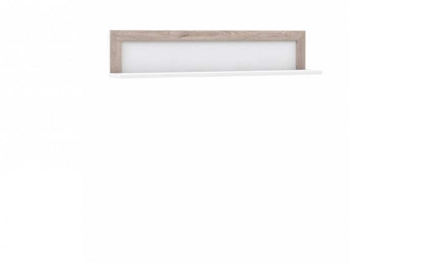 Etajera suspendata din pal Small Conveq Stejar / Alb, l132,9xA22xH27,7 cm
