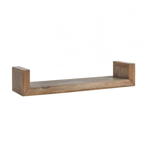 Etajera suspendata din lemn, Merapi Natural, l80xA20xH15 cm