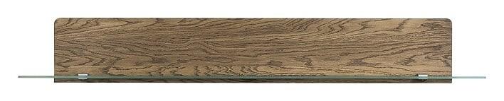 Etajera suspendata din lemn si sticla Negro Large 35 Oak, l163xA25xH23 cm