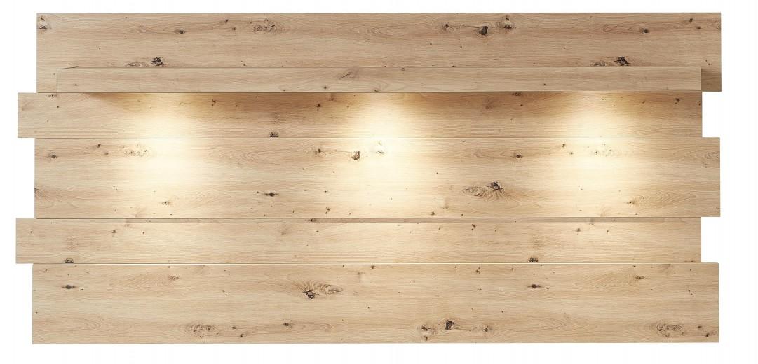 Etajera suspendata din MDF cu LED inclus Loftis Stejar Artisan, l202xA24xH93 cm