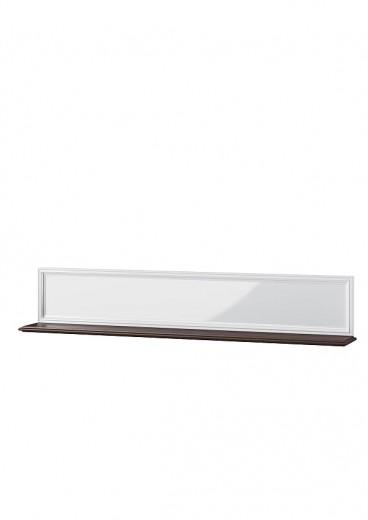 Etajera suspendata din MDF si furnir Massimo 35 White / Mocha, l168xA23xH31 cm