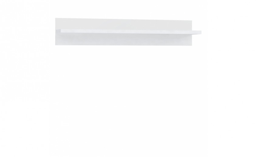 Etajera suspendata din pal Livinglight Alb, l140xA25,3xH25,8 cm