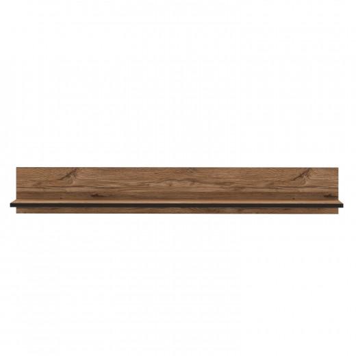 Etajera suspendata din pal Sedna Stejar / Negru, l180xA22,3xH25,8 cm