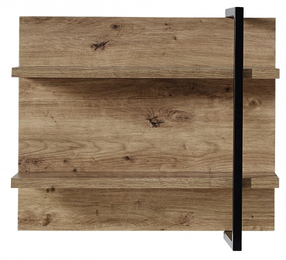 Etajera suspendata din pal si MDF Madeline Havel Oak Cognac / Negru, l60xA19xH50 cm