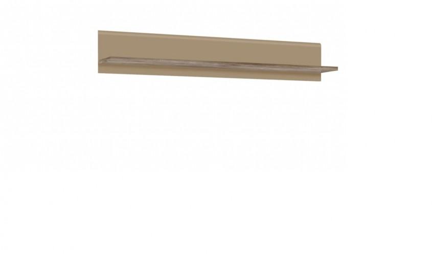 Etajera suspendata din pal, Tadita Stejar / Bej, l143,8xA25xH23,5 cm