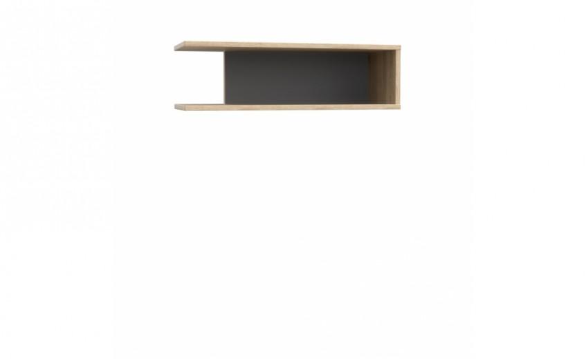 Etajera suspendata din pal Yoper Stejar Sonoma / Gri, l65xA24xH19,4 cm