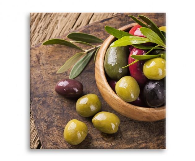 Tablou Sticla Glasspik Olives 3, 30x30 cm
