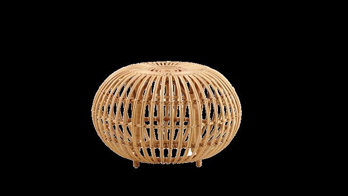 Taburet din ratan Ottoman Small Natural, Ø 55xH35 cm