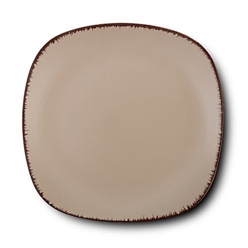 Farfurie desert din ceramica, Brown Sugar Maro, 19 cm