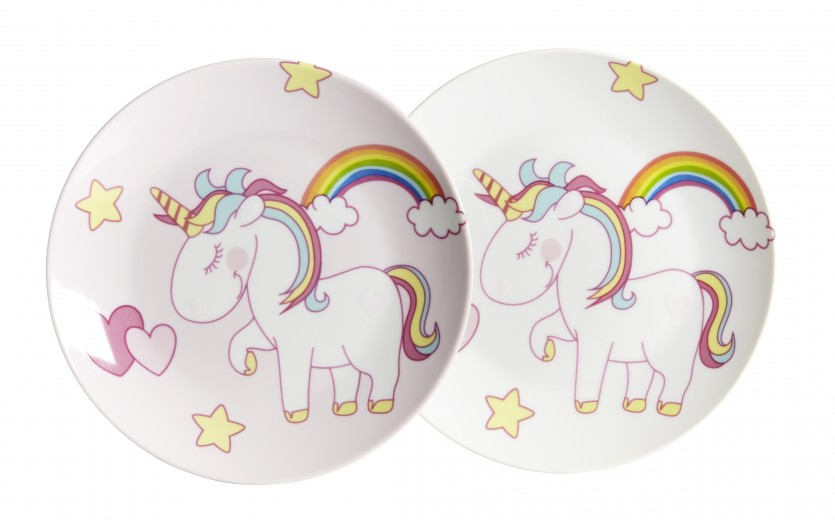 Set farfurii desert Unicorn, Ø 19 cm, 2 piese