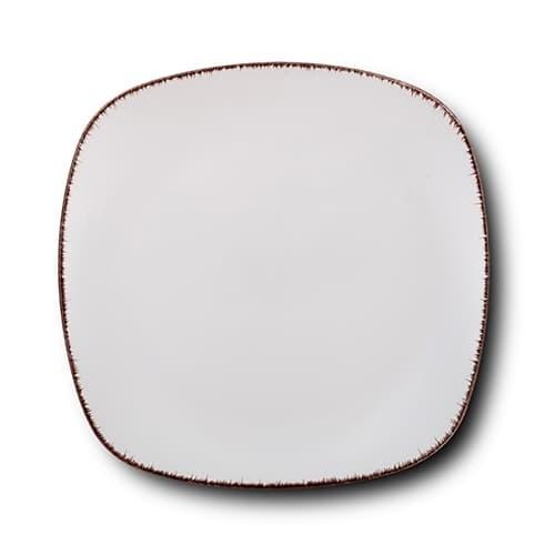 Farfurie intinsa din ceramica, White Sugar Alb, 26 cm