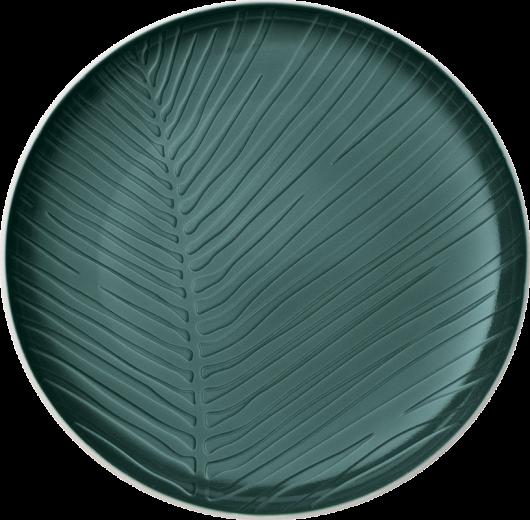 Farfurie intinsa din portelan, It's my Match Leaf Alb / Verde, 24 cm, Villeroy & Boch