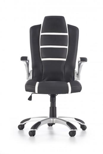 Scaun de birou ergonomic tapitat cu piele ecologica Fast Black / White, l65xA74xH116-126 cm