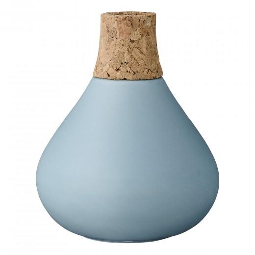 Vaza Light Bleu, Ceramica/Pluta, Ø10xH12 cm