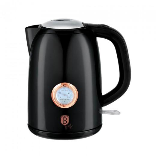 Fierbator apa cu termostat, 1,7L, 2200W, Black Rose