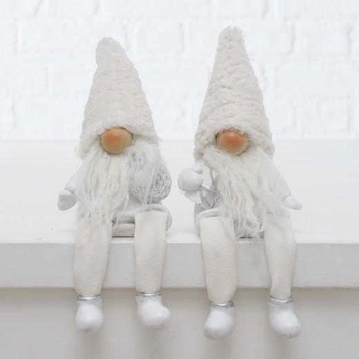 Figurina decorativa din polirasina Gnome Alb, Modele Asortate, l10xA7xH27 cm