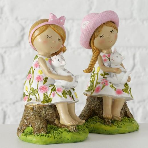 Figurina decorativa din polirasina Rosalie Multicolor, Modele Asortate, l8xA8xH15 cm
