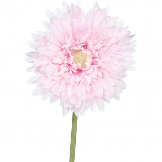 Fir floare artificiala, Gerbera Roz, H60 cm